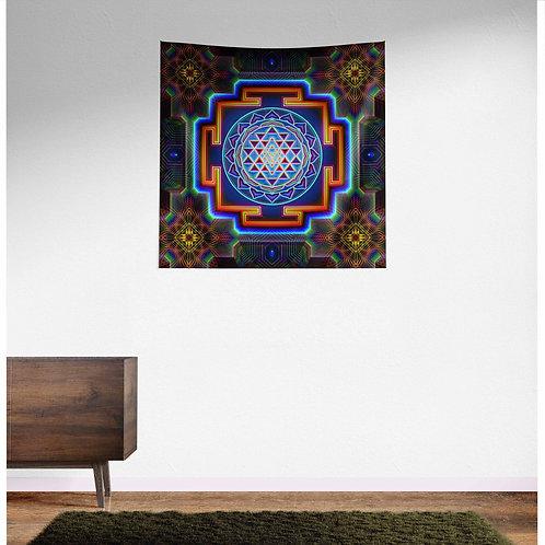 Sri Yantra UV Reactive Tapestry