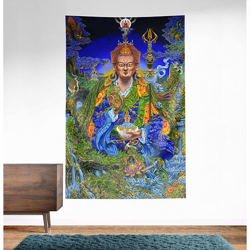 Padmasambhava UV Reactive Tapestry