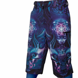 Violet Cyber Shorts