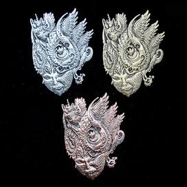 'Fractal Feline' Pins by Luke Brown - Full Set of 3