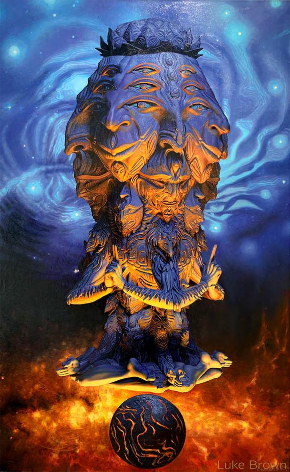 Vishvarupa II painting by Luke Brown Art