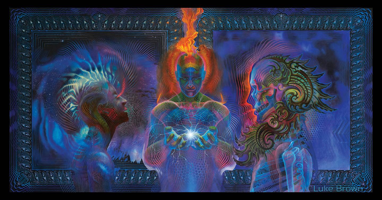 DMT Art Prometheus Painting by Artist Luke Brown Spectraleyes.jpg