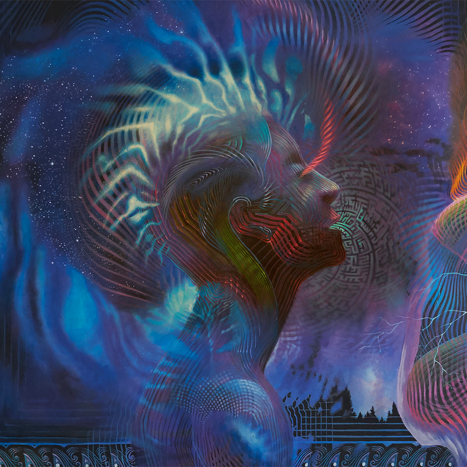 DMT Art Prometheus Painting by Artist Luke Brown Spectraleyes detail 4.jpg
