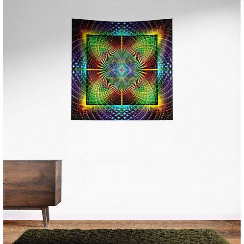Heart Chakra UV Reactive Tapestry