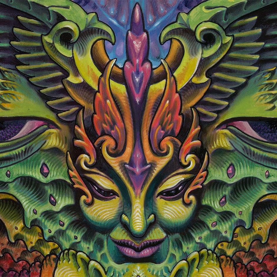 Detail of Eudaimonia Painting Luke Brown 4
