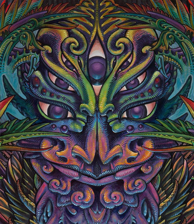 Detail of Eudaimonia Painting Luke Brown 3