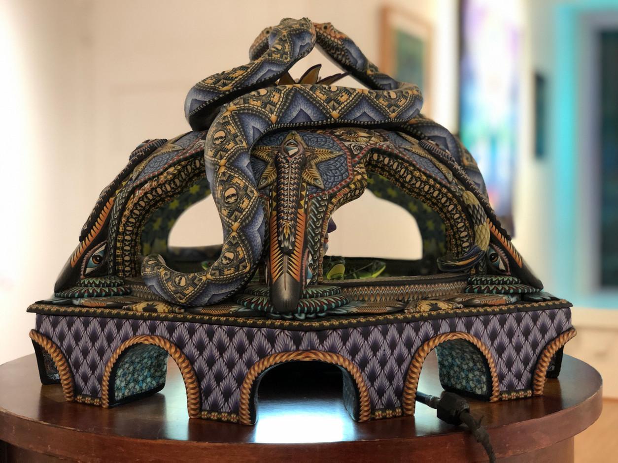 Tryptamine Snake Palace Sculpture by Luke Brown