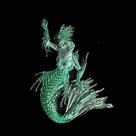 Mermaid Pin by Luke Brown - Green