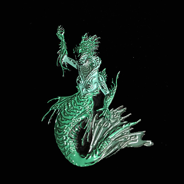 Mermaid Pin by Luke Brown - Green