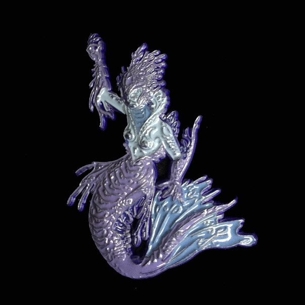 Mermaid Pin by Luke Brown - Purple