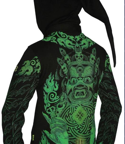 Lime Mahakala Morph Jacket Pixie Hood