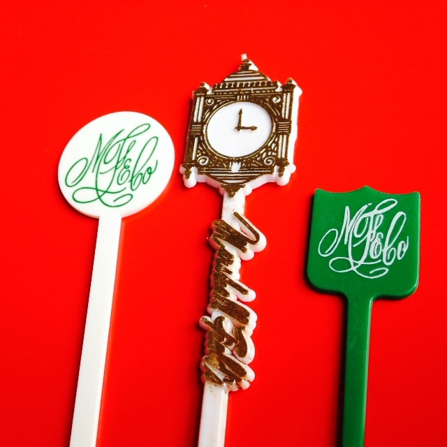 Marshal Fields Swizzle Sticks Clock Monogram Chicago