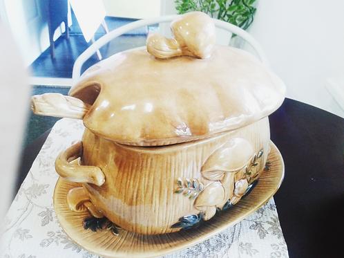 Brown Mushroom Soup Bowel 咖啡色香菇湯碗
