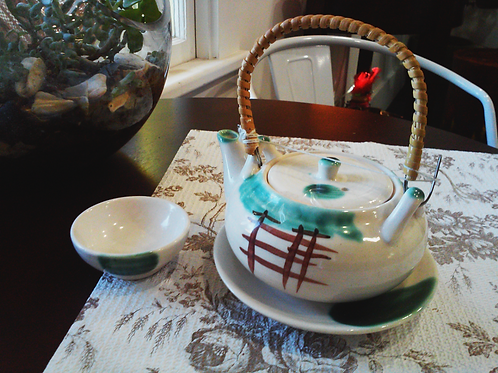 Green Japanese Style Tea Set