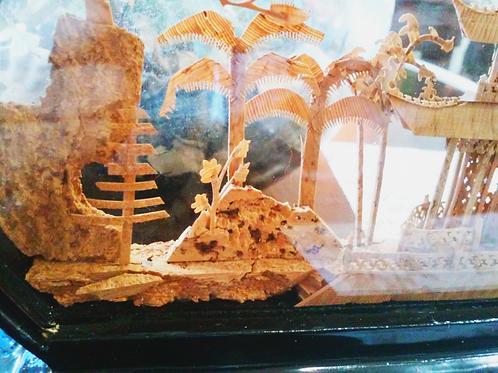 Handcraft Framed 3D Landscape Shadow Box 手工立體風景藝術盒