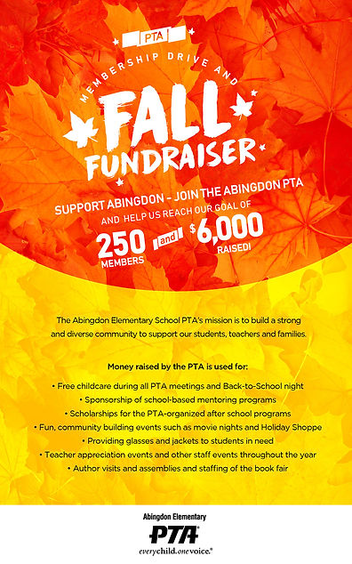Flyer Abingdon PTA MEMBERSHIP FALL ENG-0