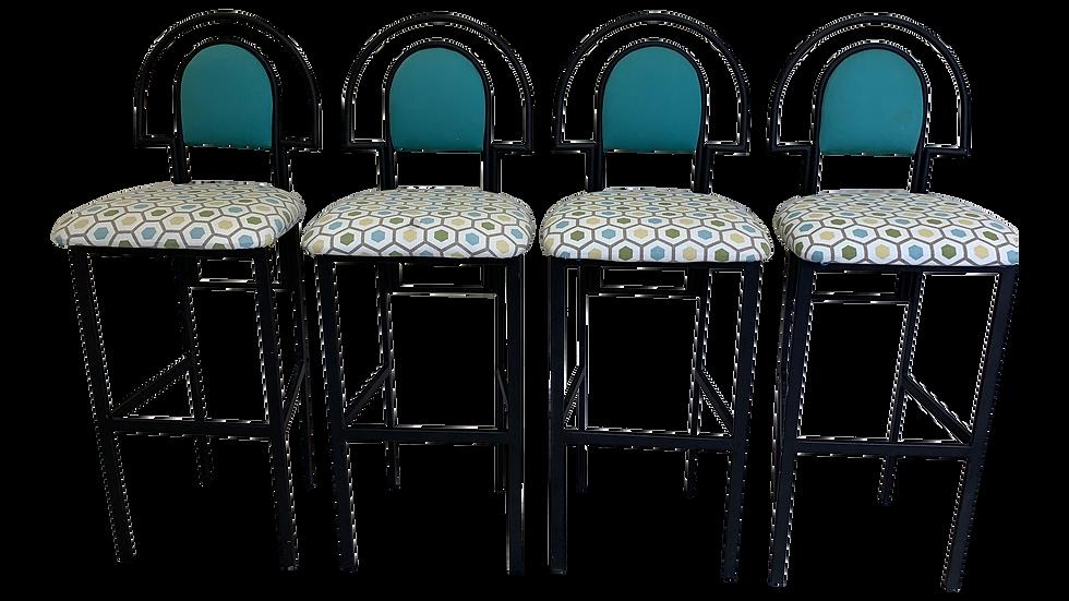 Set of 4 Post Modern Barstools