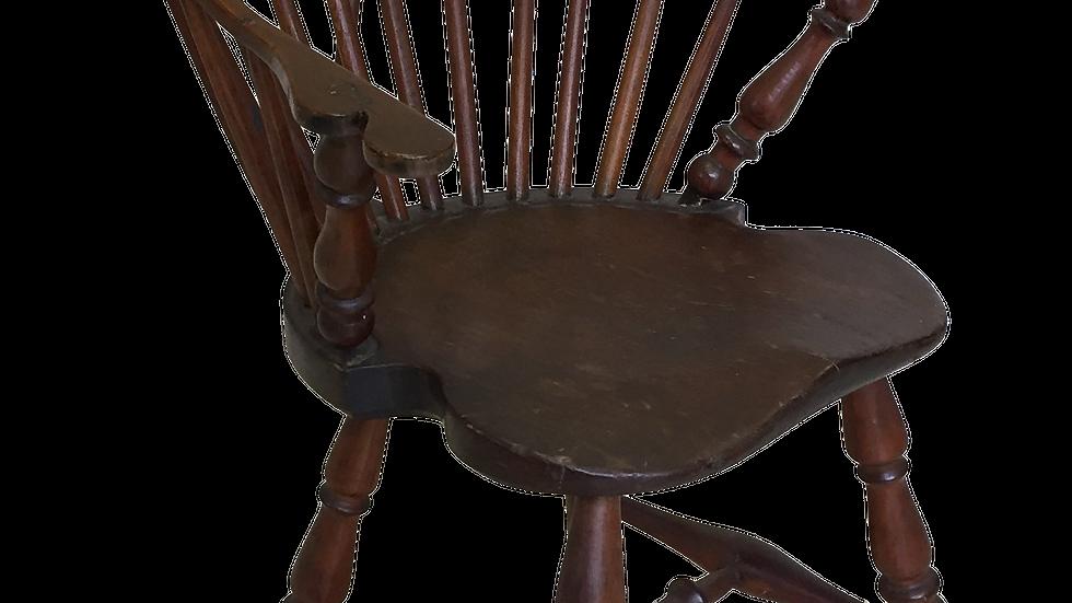 1780's Brace Back Windsor Armchair.