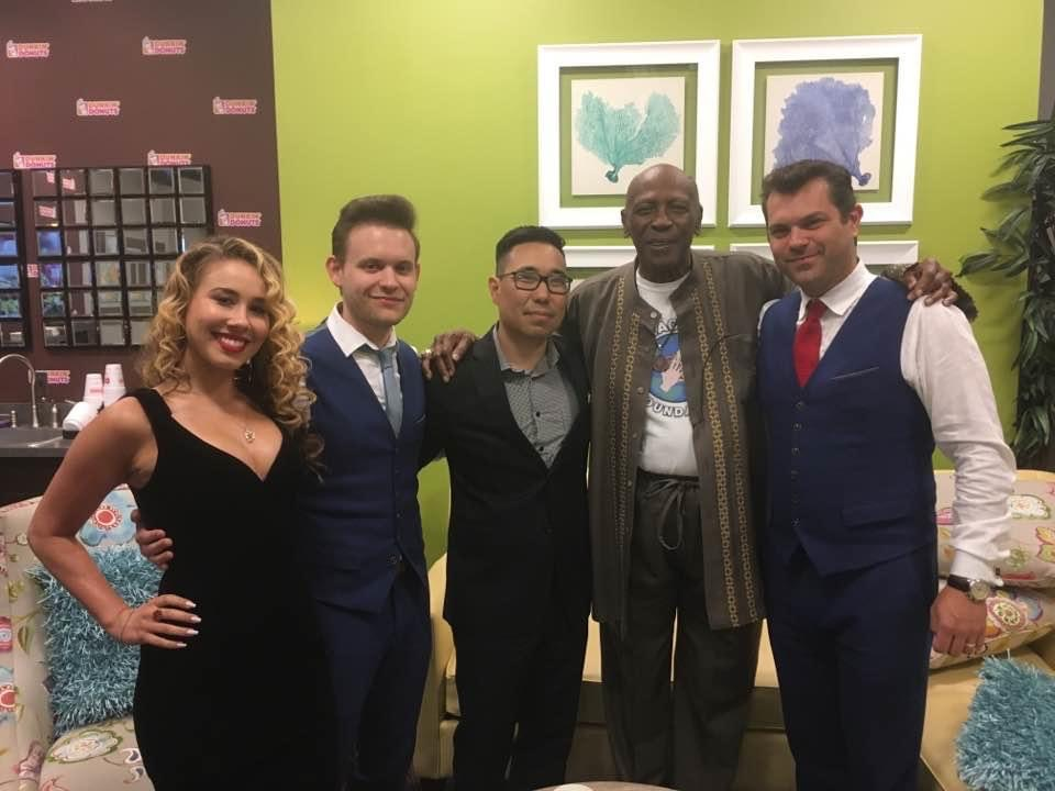 Backstage with Louis Gossett Jr., Haley Reinhart, Dave Damiani, Alex Frank