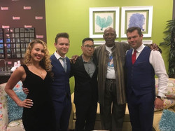 Backstage with Louis Gossett Jr., Haley Reinhart, Dave Damiani, Alex Frank