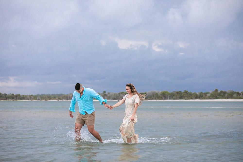 beach photos engagement session photoshoot gorgeous bride and groom wedding saint Augustine palm coast Ormond beach New Smyrna Beach Flagler county photography ocean photos