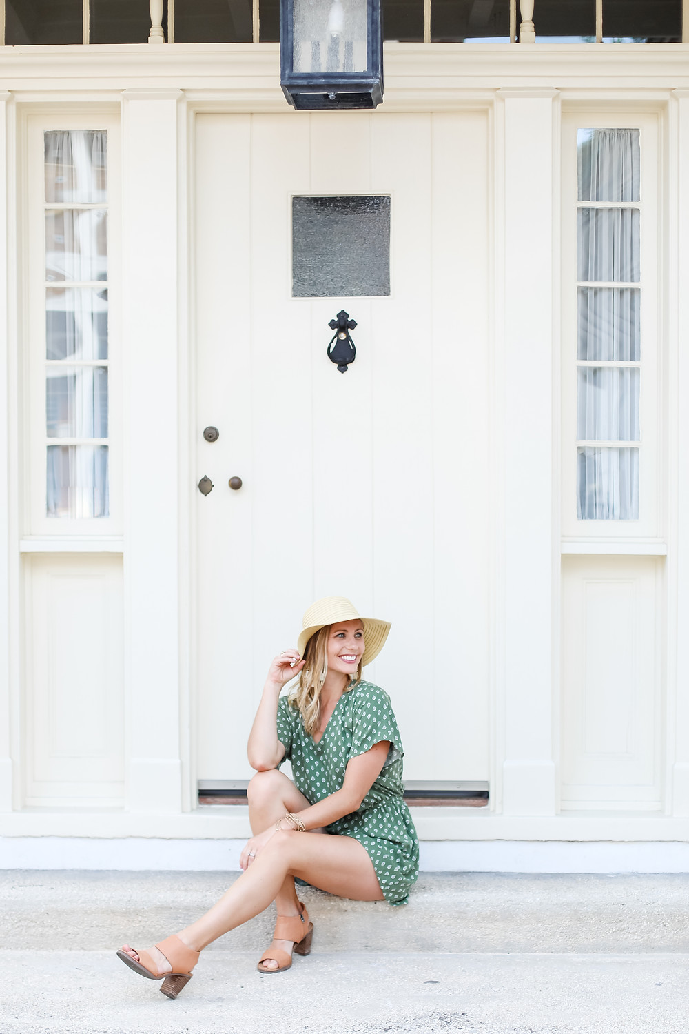 light and airy photograph of Kelsey Breton with Kelsey Breton Photography in downtown St. Augustine, Florida