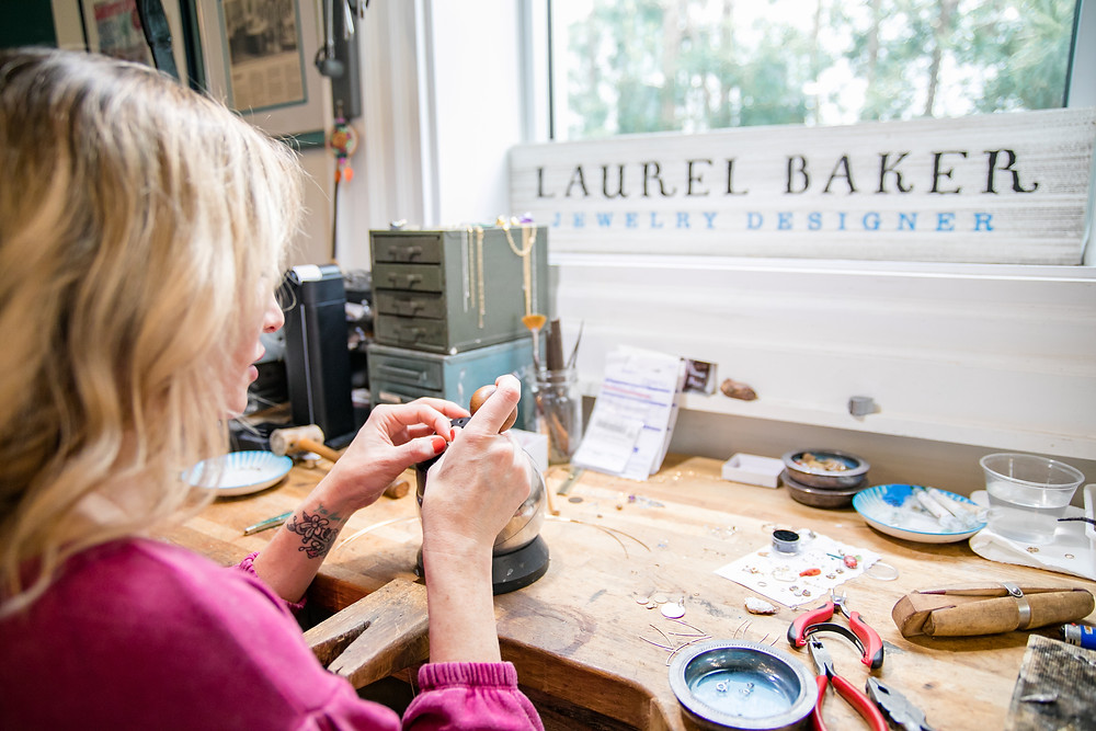 working laurel baker jewelry design engagement custom rings on san marco at anchor b with tools wedding photography wedding vendors