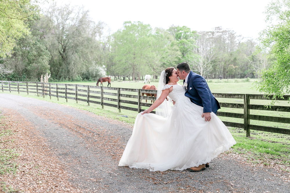 all 4 one farms danielle and allison murray wedding farm vibes light and airy bride and groom north jacksonville florida