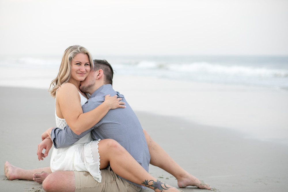 light and airy butler crescent beach photos in st. augustine florida wedding and engagement photography photographer blonde adorable water photos white and blue sunset photos