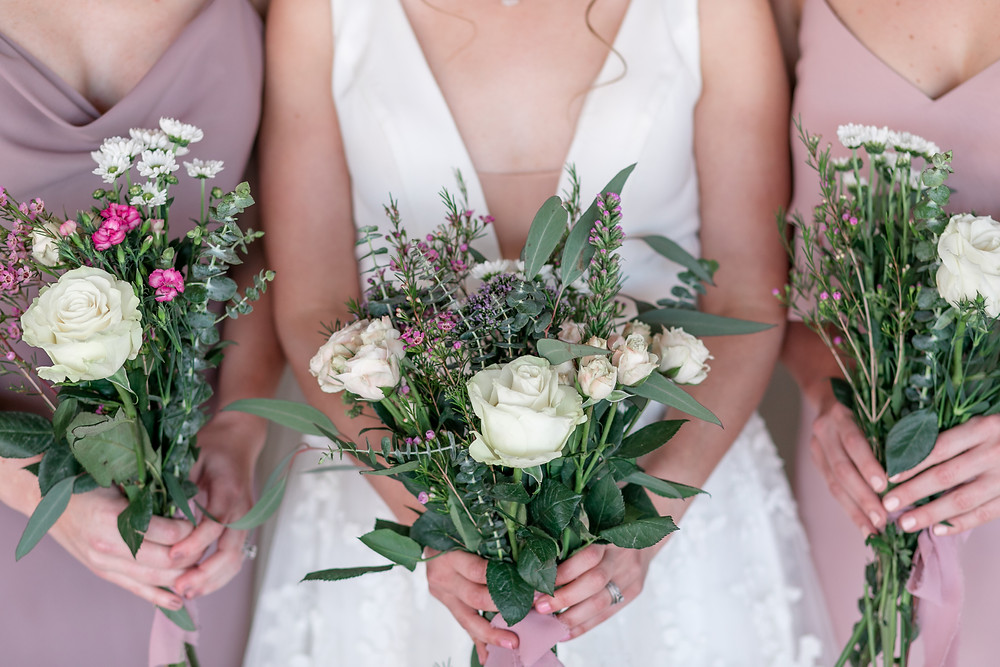 lovely bouquets white pink purple light and airy gorgeous wedding venue farm at kelly farm events in st. augustine florida jacksonville florida bride bridal gown bridesmaids