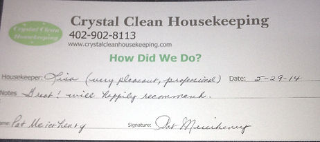 Housekeeping Lincoln NE, housekeeping, maid, cleaning services, green cleaning