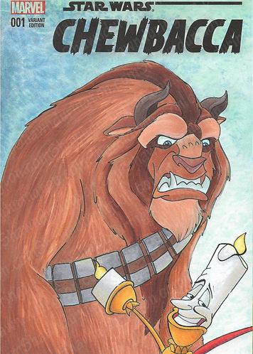 Beast as Chewbacca - 5x7 Print
