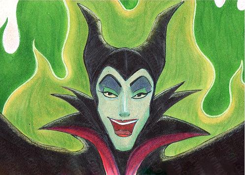 Maleficent - 5x7 Print