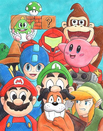 Nintendo Tribute - 11x14 Print