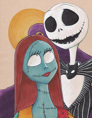 Jack and Sally - 11x14 Print
