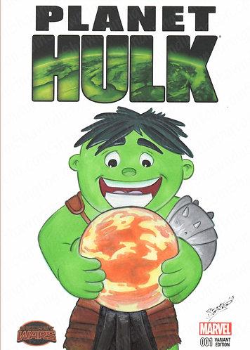 Toddler Hulk - 5x7 Print
