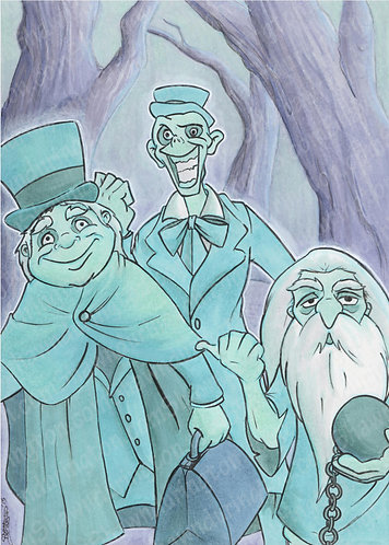 Hitchhiking Ghosts - 5x7 Print