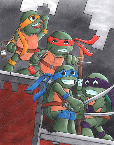 Toddler Turtles - 11x14 Print