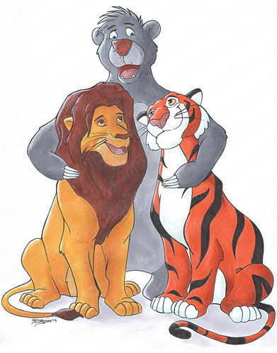 Lions, Tigers, and Bears oh my Disney