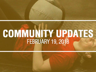 Community Updates February 19th, 2018