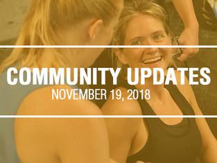Community Updates - November 19th, 2018