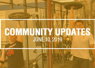 Community Updates - June 10th, 2019
