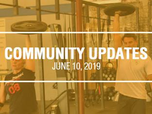 Community Updates - June 10th, 2019