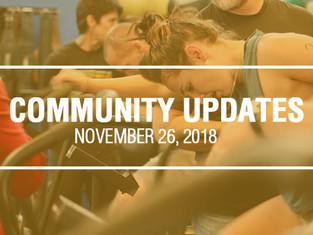 Community Updates - November 26th, 2018