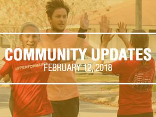 Community Updates February 12th, 2018