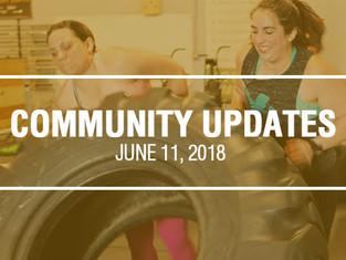 Community Updates June 11, 2018