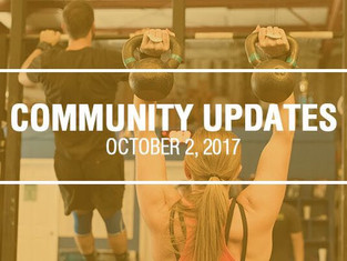 Community Updates October 2, 2017