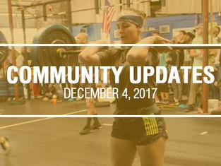 Community Updates December 4, 2017