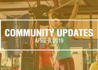 Community Updates - April 8th, 2019