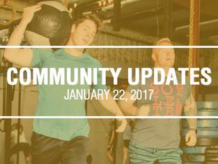 Community Updates January 22, 2018